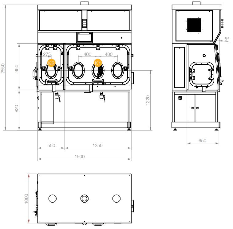 Bản vẽ kỹ thuật cân Isolator
