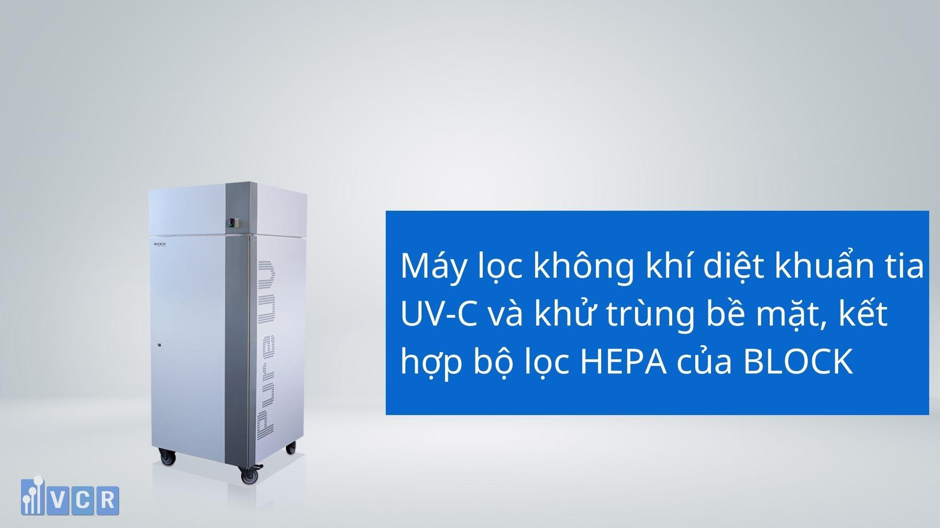 Máy lọc không khí diệt khuẩn tia UV-C kết hợp lọc HEPA