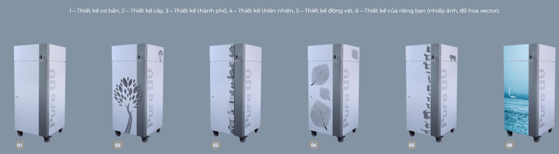 Thiết kế của máy lọc không khí tiệt trùng Pure UV